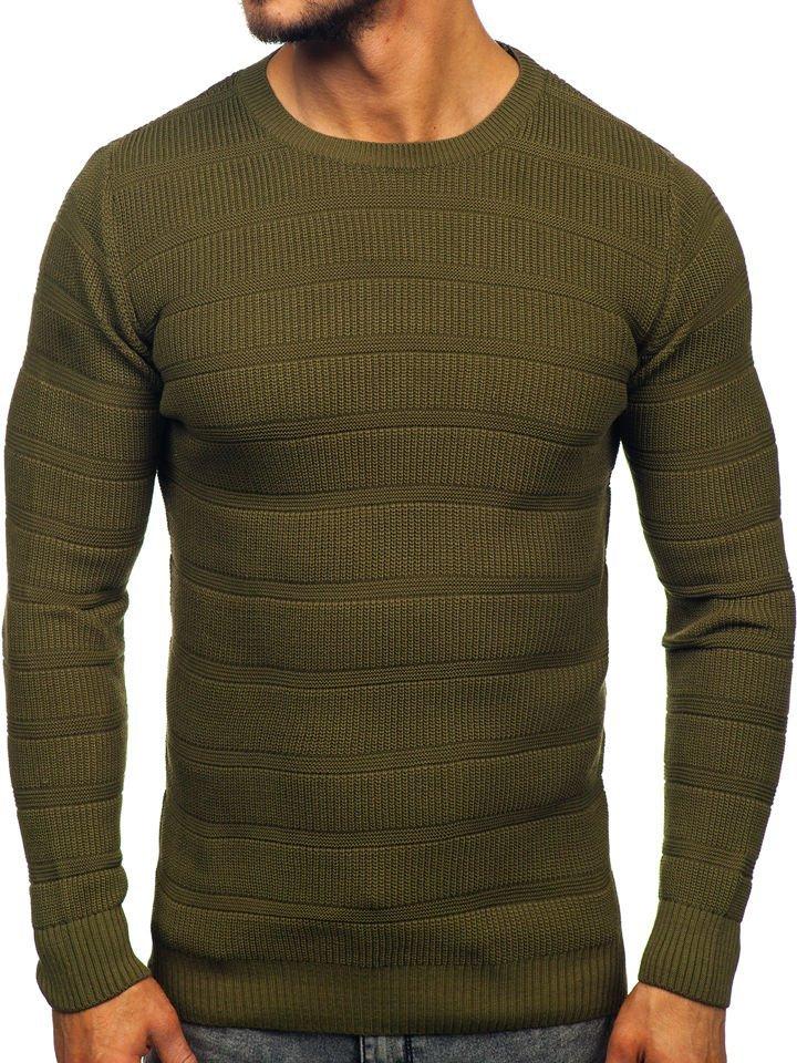 Zelený pánsky sveter Bolf 4357