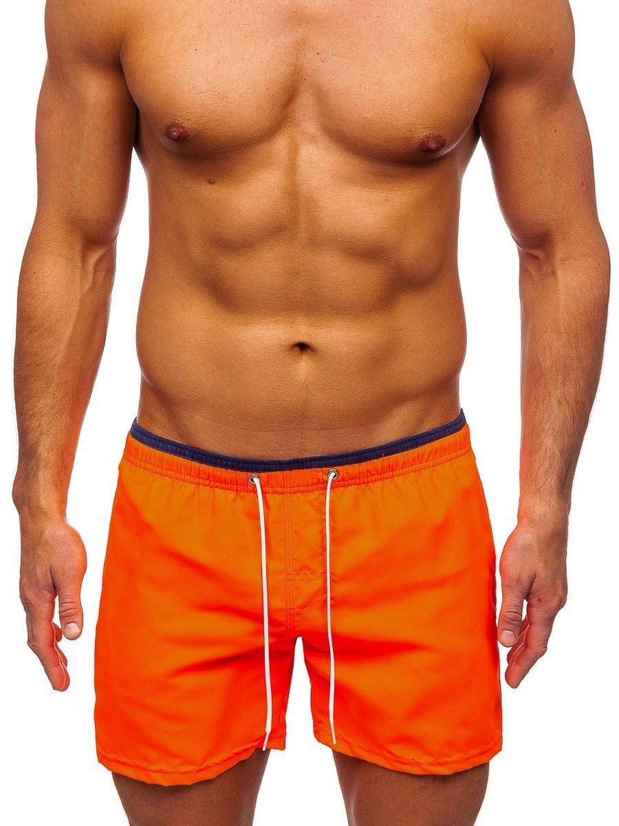 Oranžové pánske kúpacie šortky Bolf ST006