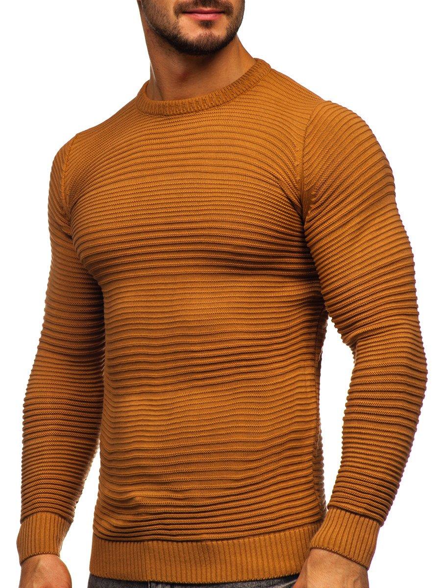 Hnedý pánsky sveter Bolf 4608