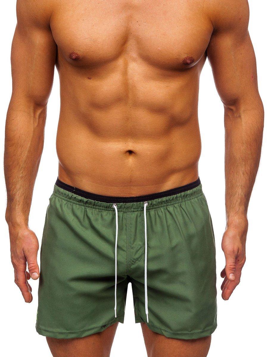 Zelené pánske kúpacie šortky Bolf ST006