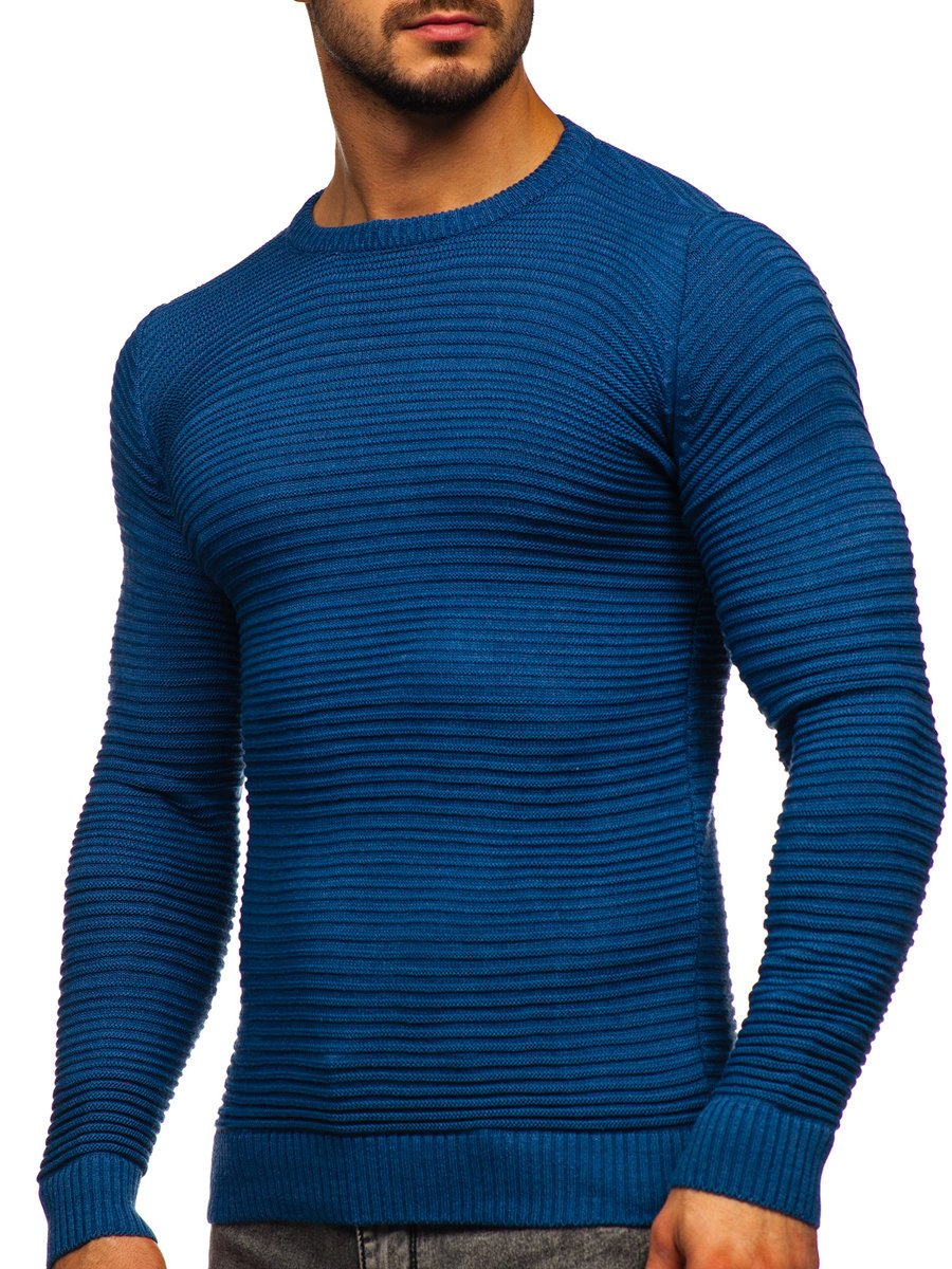 Modrý pánsky sveter Bolf 4608