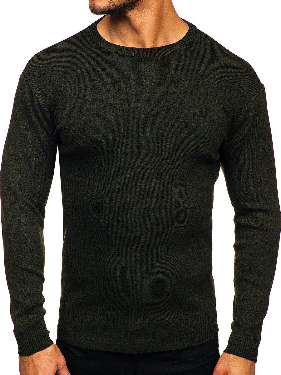 Khaki pánsky sveter Bolf H2060