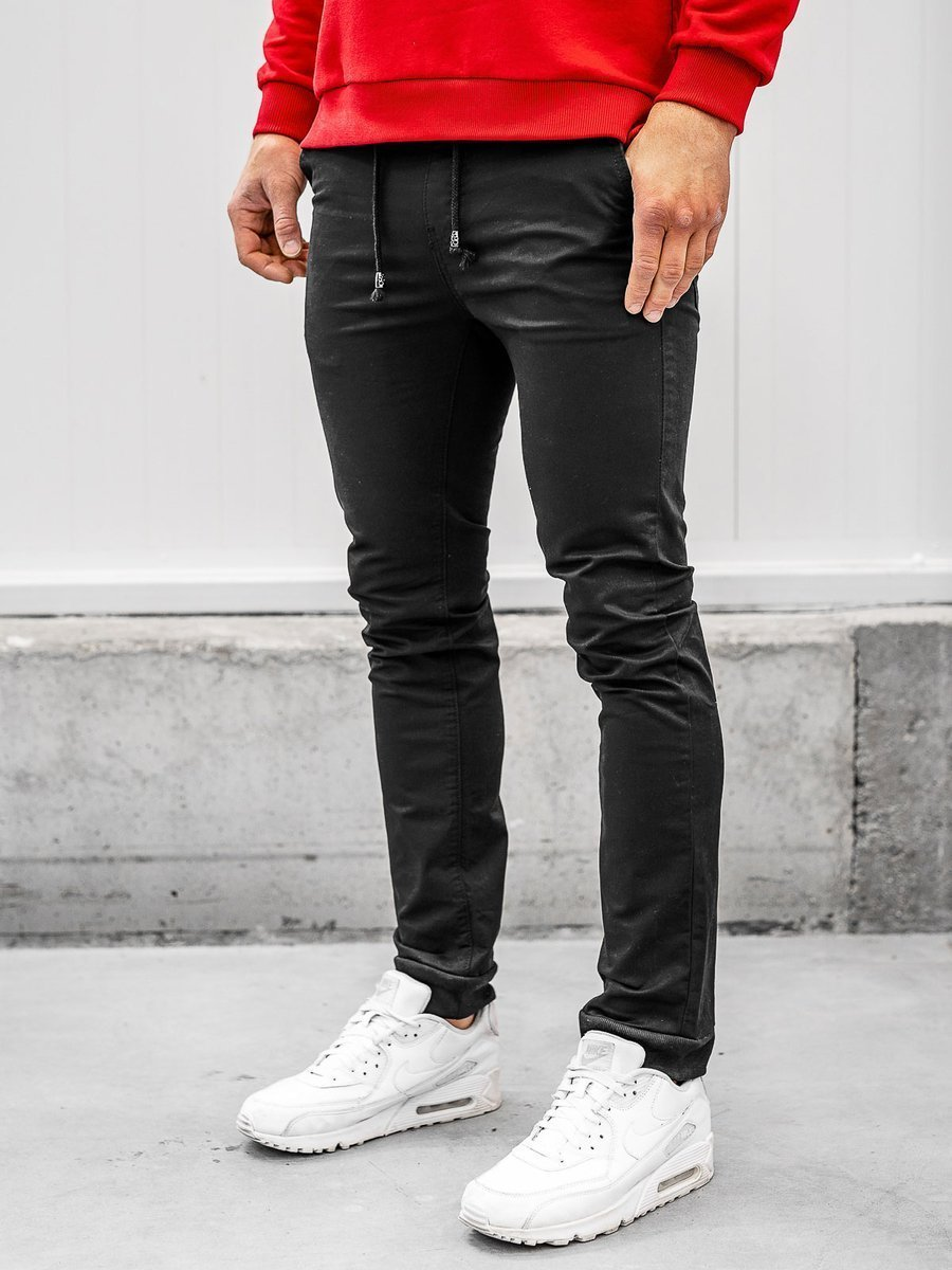 Čierne pánske jogger nohavice Bolf KA8877