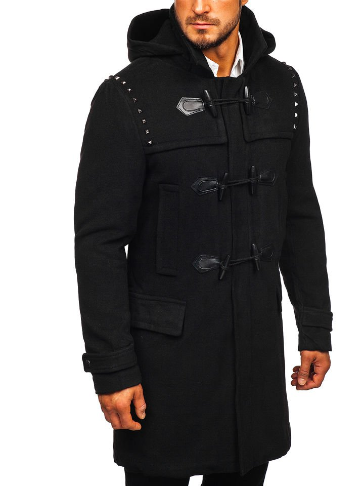 Čierny pánsky zimný kabát Bolf 88870