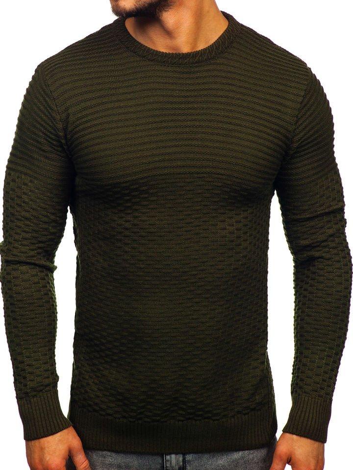 Zelený pánsky sveter Bolf 319
