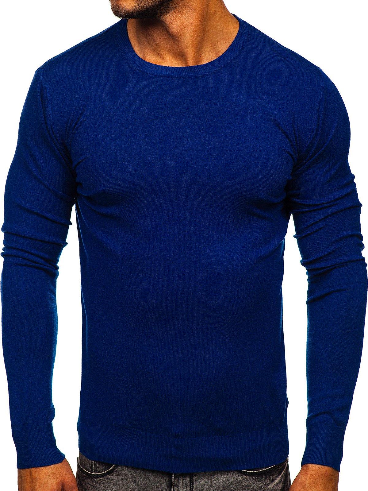 Modrý pánsky sveter Bolf YY01