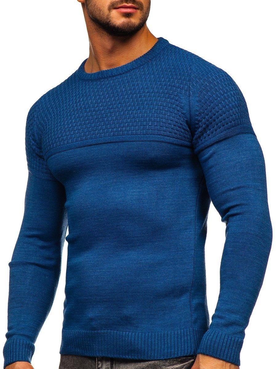 Modrý pánsky sveter Bolf 4623