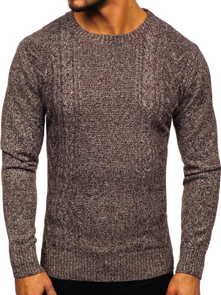 Hnedý pánsky sveter Bolf H1937