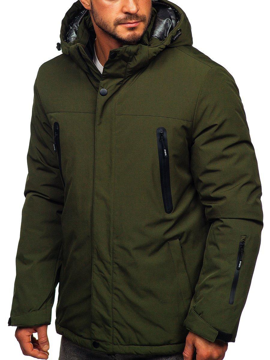 Zelená pánska športová lyžiarská zimná bunda Bolf 9801