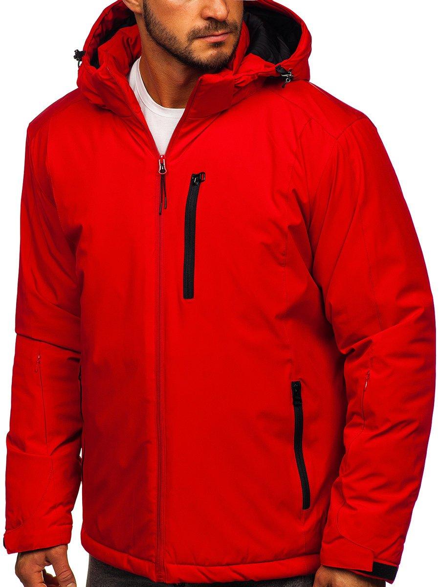 Červená pánska športová lyžiarská zimná bunda Bolf HH011