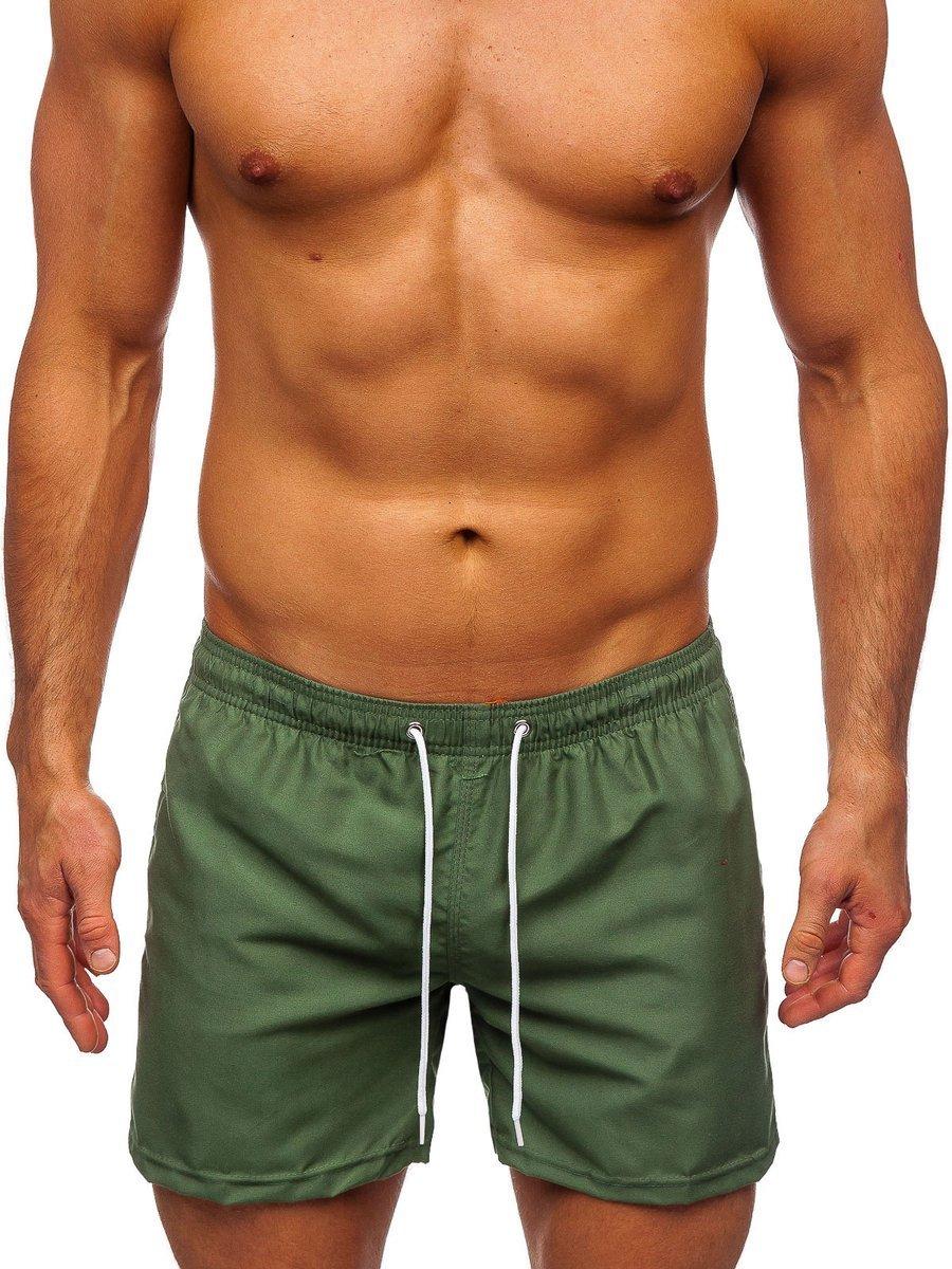 Zelené pánske kúpacie šortky Bolf ST002