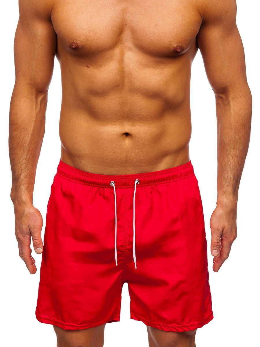 Červené pánske kúpacie šortky Bolf ST019