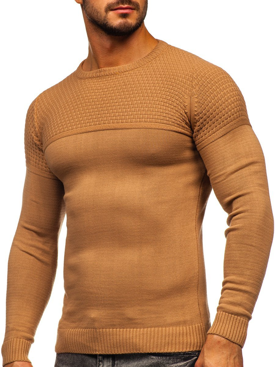 Hnedý pánsky sveter Bolf 4623