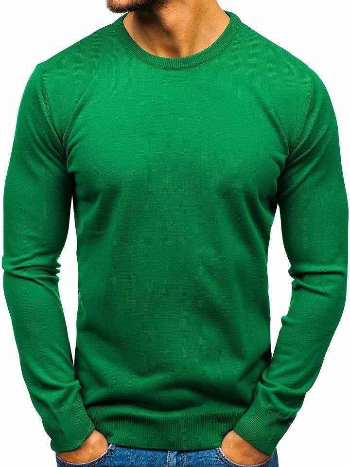 Zelený pánsky sveter BOLF 2300