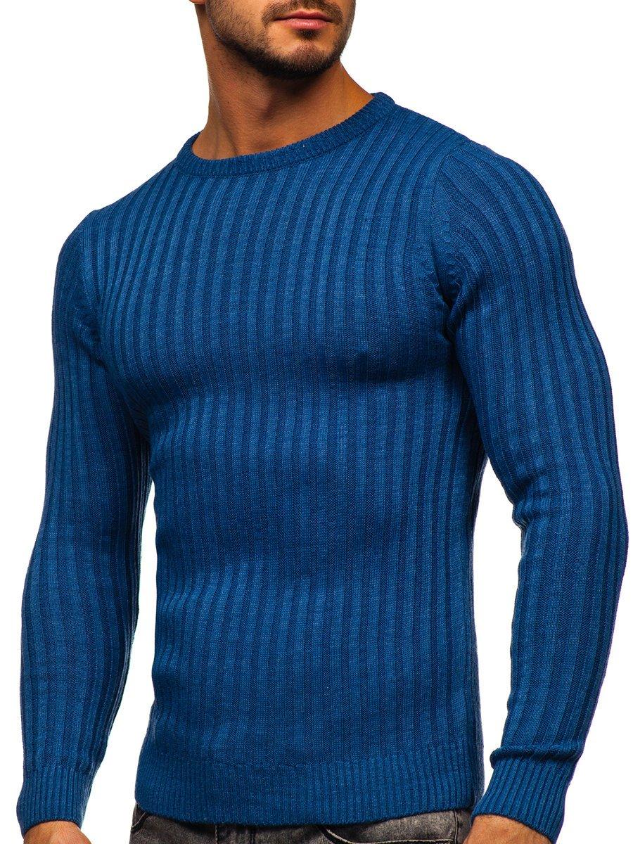 Modrý pánsky sveter Bolf 4603