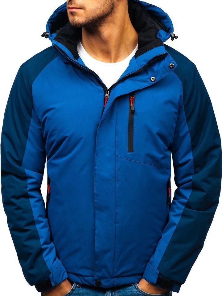Modrá pánska zimná bunda BOLF HZ8102
