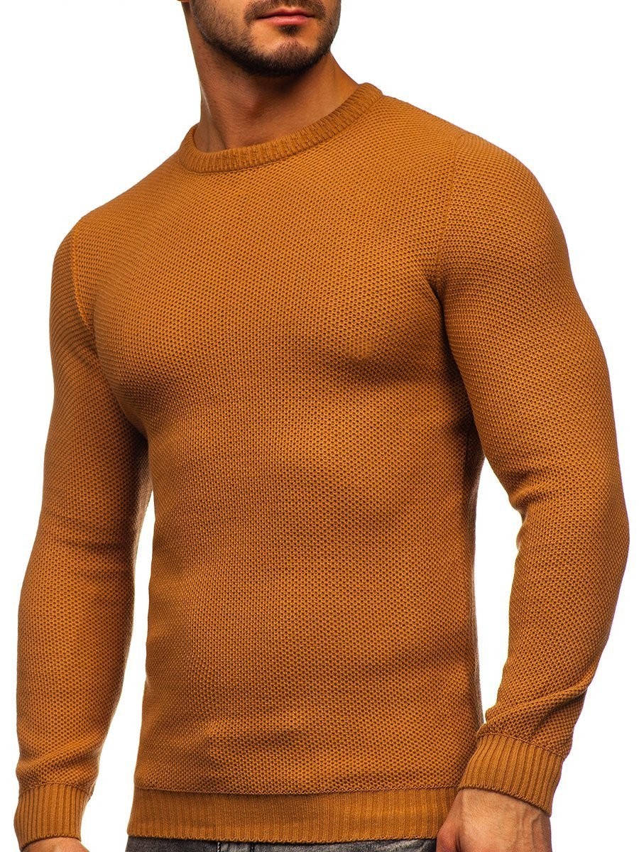 Hnedý pánsky sveter Bolf 4629