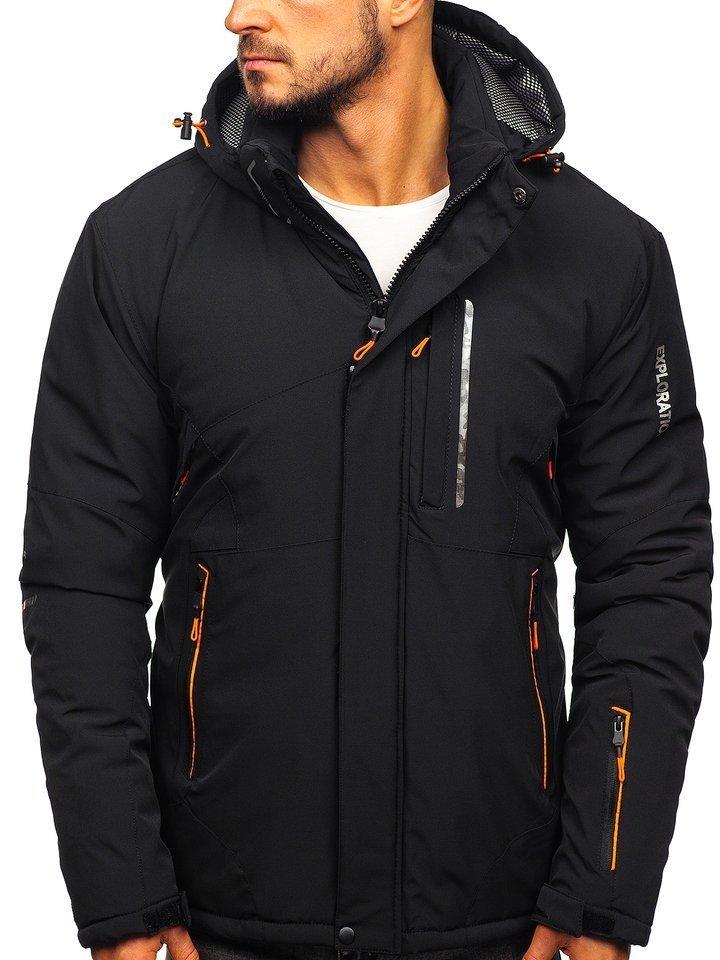Čierno-oranžová pánska lyžiarská zimná bunda Bolf 1910