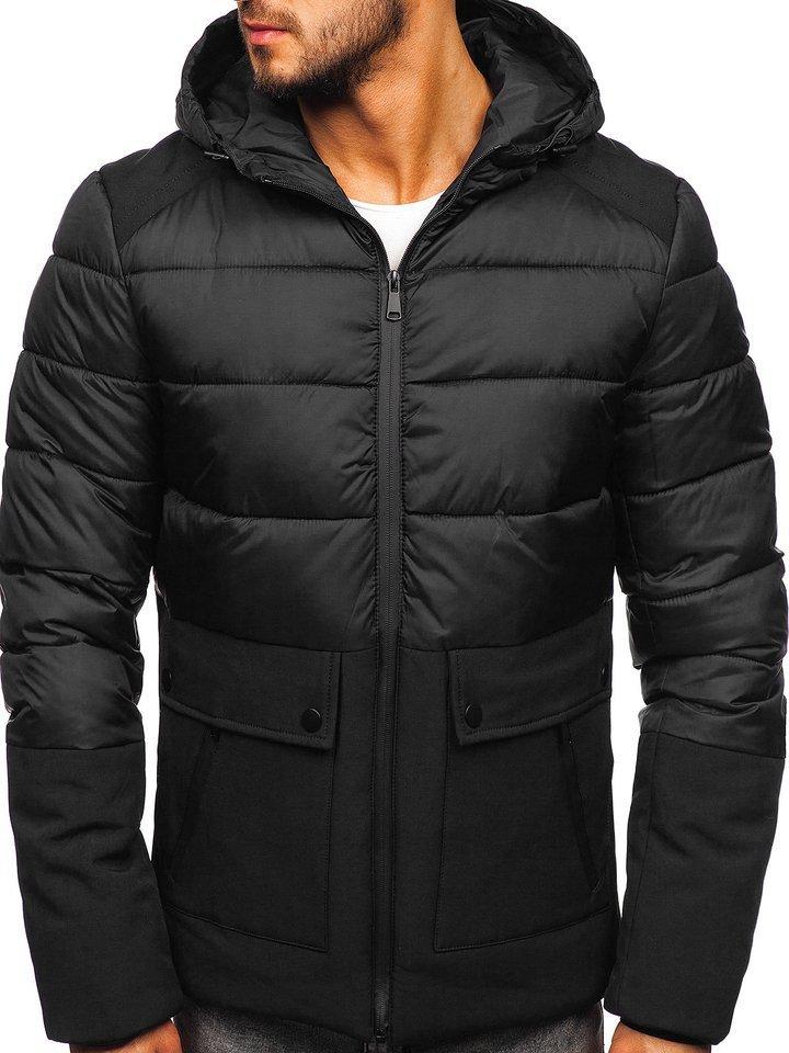 Čierna pánska zimná bunda Bolf B1280