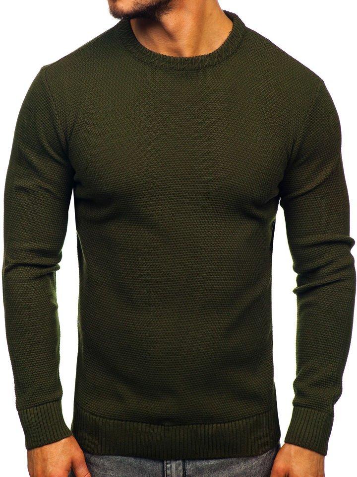 Zelený pánsky sveter Bolf 312