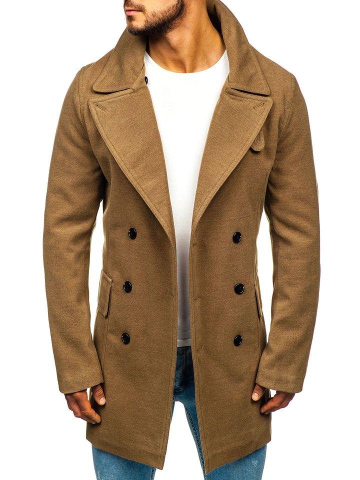 Kamelový pánsky zimný kabát Bolf 1048A