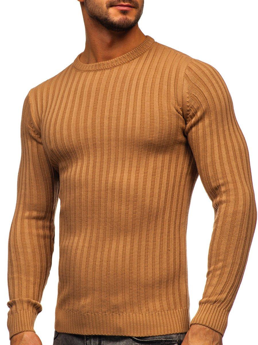 Hnedý pánsky sveter Bolf 4603