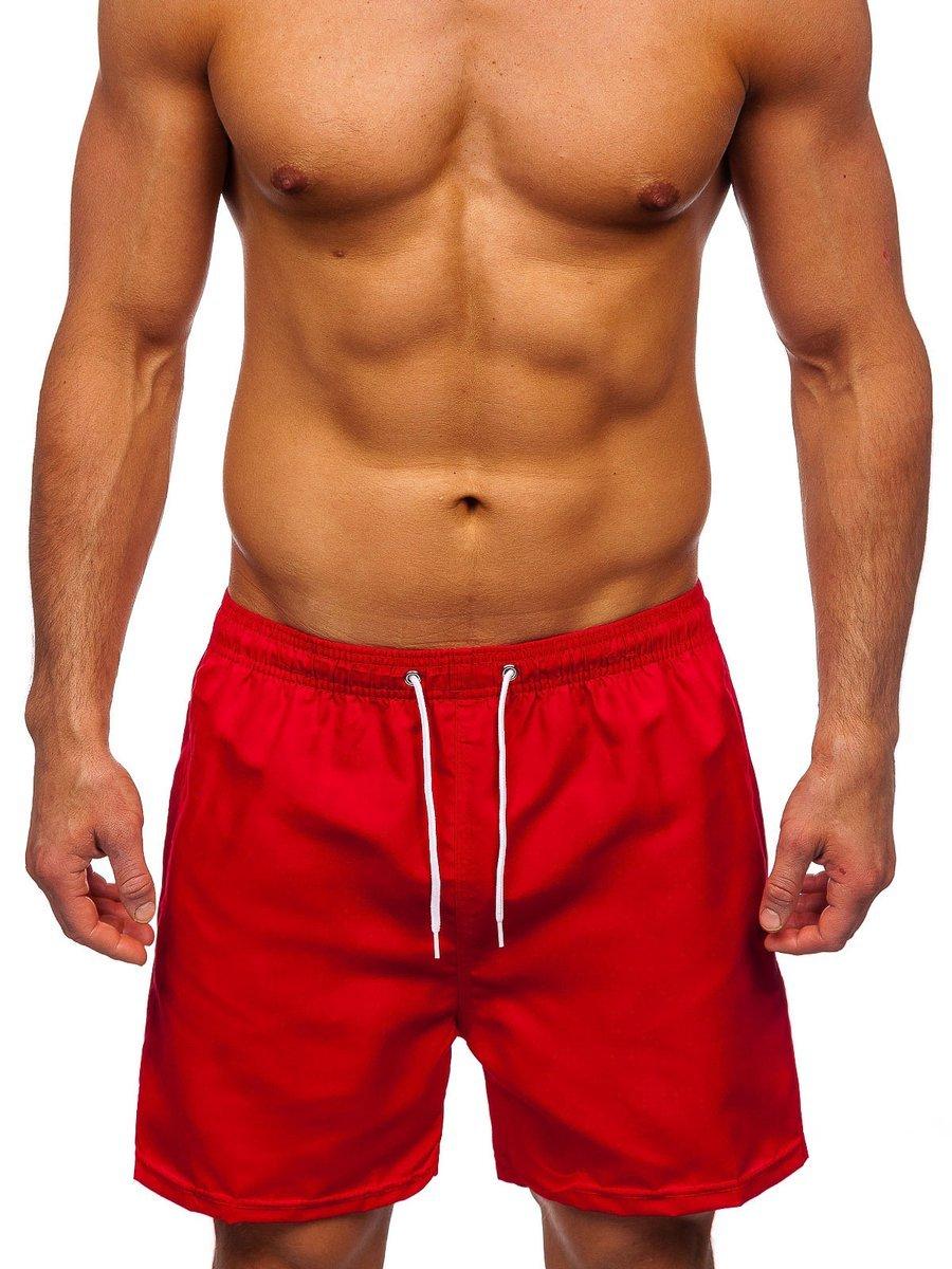 Červené pánske kúpacie šortky Bolf ST001