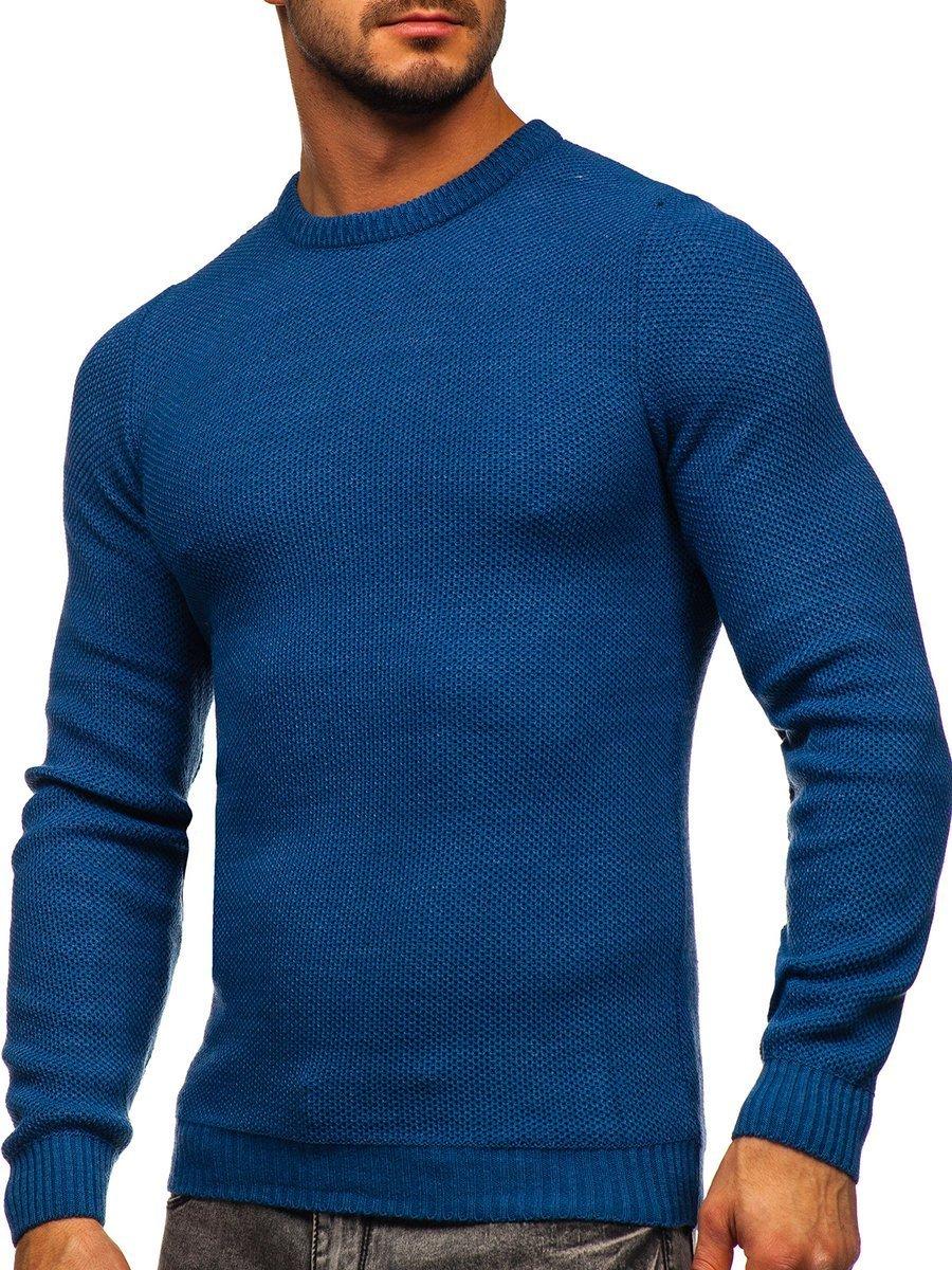 Modrý pánsky sveter Bolf 4629