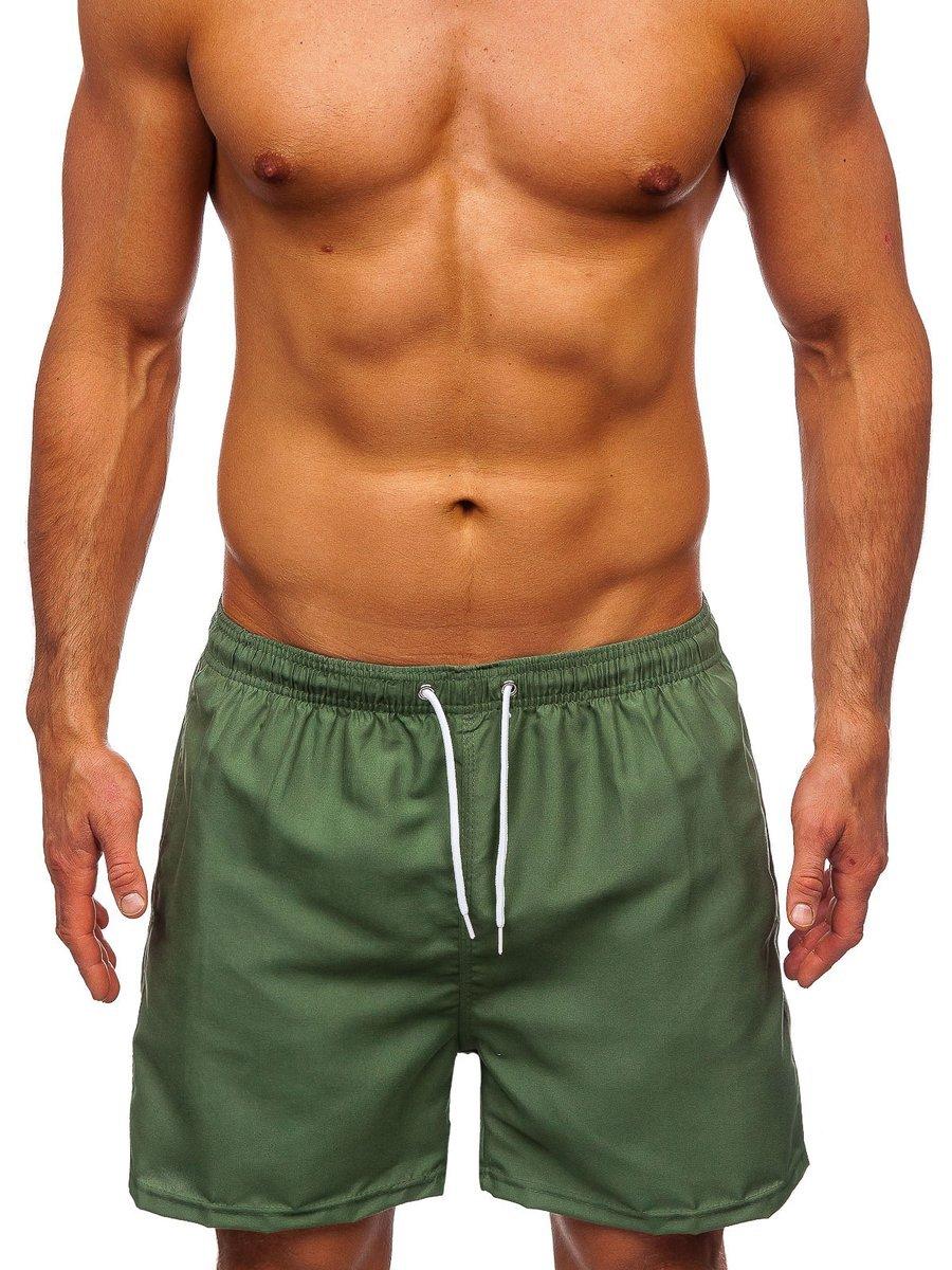 Zelené pánske kúpacie šortky Bolf ST001