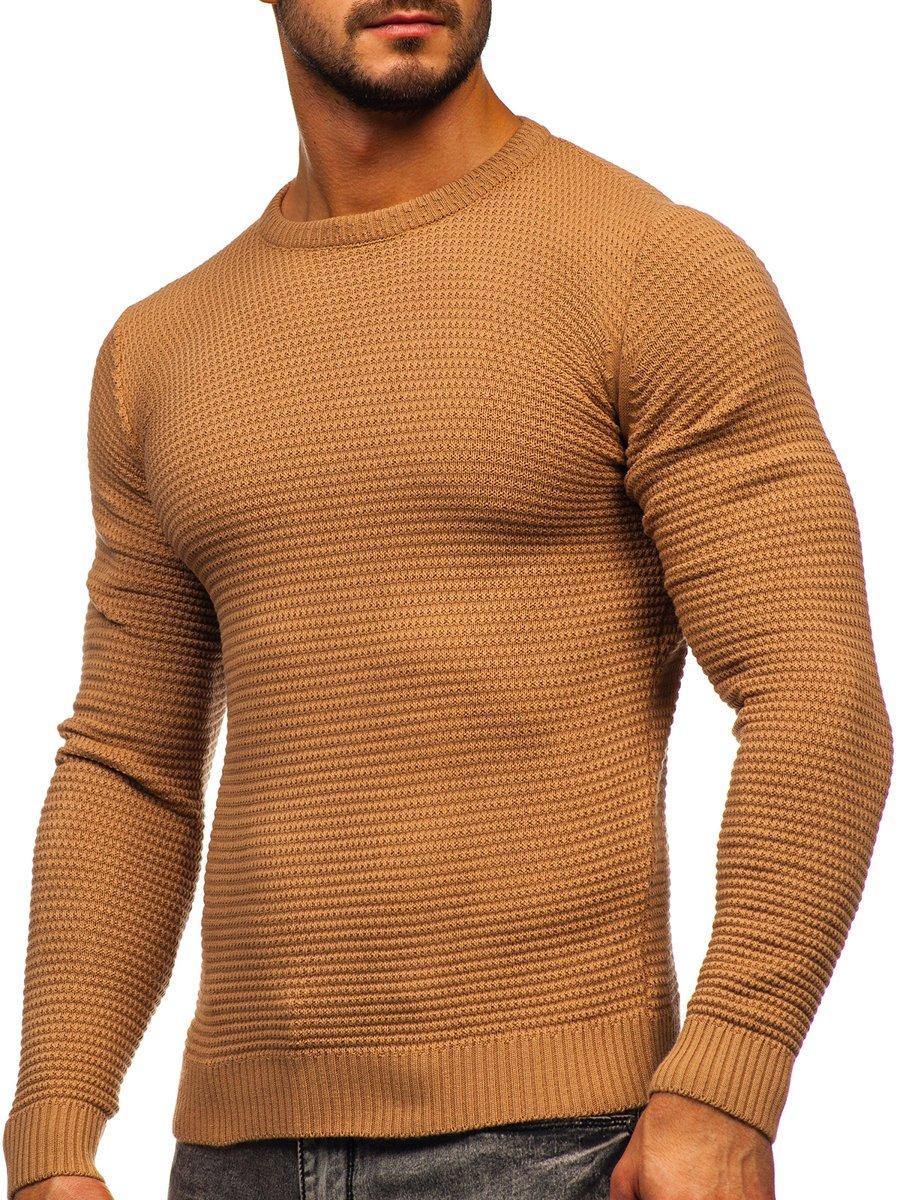 Hnedý pánsky sveter Bolf 4604