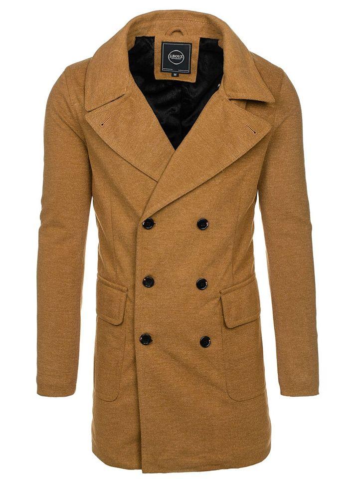 Kamelový pánsky zimný kabát Bolf 1048B