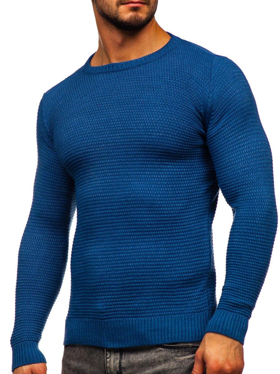 Modrý pánsky sveter Bolf 4604