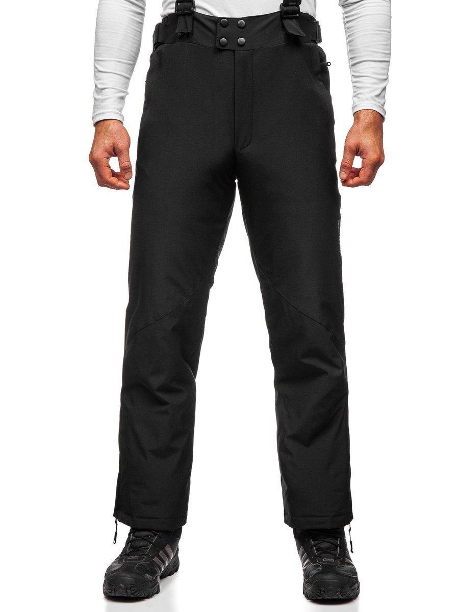 Čierne pánske lyžiarske nohavice Bolf BK161