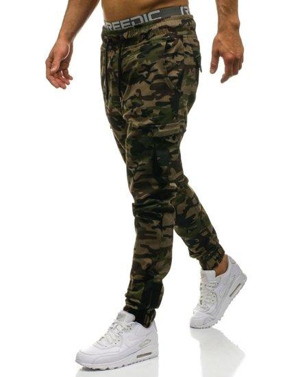 Maskáčovo-khaki pánske kapsáčové joggery BOLF 0705 b5788bdb908