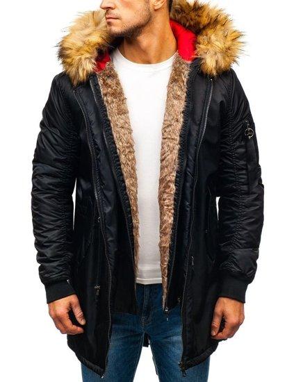 Čierna pánska zimná bunda parka BOLF 5308 aa5238145c1