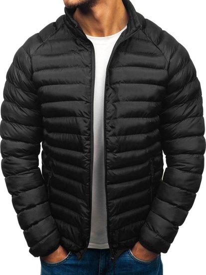a9352708085d Čierna pánska športová zimná bunda BOLF SM53-A